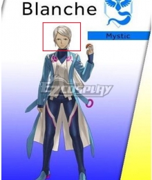 Pokémon GO Pokemon Pocket Monster Blanche Team Mystic Silver Cosplay Wig