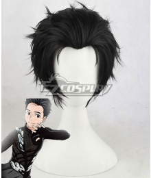 Yuri on Ice YURI!!!on ICE Katsuki Yuuri Black Cosplay Wig - B Edition