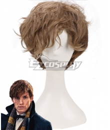 Fantastic Beasts and Where to Find Them Newt Scamander Light Brown Cosplay Wig