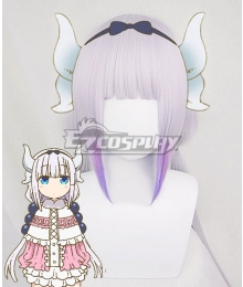 Miss Kobayashi's Dragon Maid Kanna Kamui Purple Cosplay Wig
