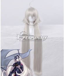 Fate Grand Order Ruler Joan of Arc Jeanne d'Arc Light Grey Cosplay Wig
