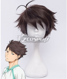 Haikyu!! Aoba Josai High Tōru Oikawa Deep Brown Cosplay Wig
