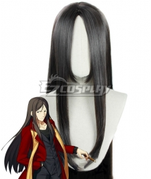 Fate Grand Order Caster Zhuge Liang Lord El-Melloi II Black Cosplay Wig