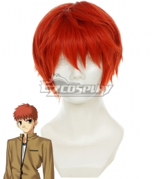 Fate Stay Night Shirou Emiya Orange red Cosplay Wig - 332C