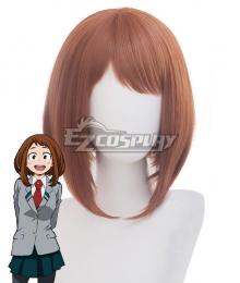 My Hero Academia Boku no Hero Akademia Ochako Uraraka Brown Cosplay Wig