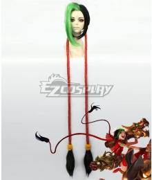 League of Legends LOL Firecracker Jinx Multicolor Cosplay Wig