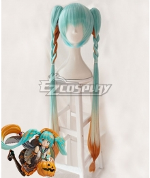 Vocaloid Hatsune Miku Trick or Miku Figure 2017 Halloween Blue Orange Cosplay Wig