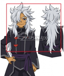 Future Card Buddyfight Rouga Aragami Silver White Cosplay Wig