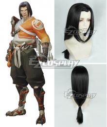 Overwatch OW Hanzo Shimada Young Young Hanzo Black Cosplay Wig