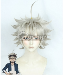 Black Clover Asta Light Yellow Gray Cosplay Wig