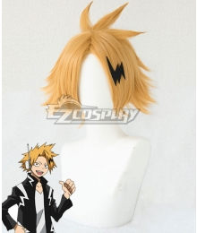 My Hero Academia Boku no Hero Akademia Denki Kaminari Golden Cosplay Wig - Wig + Head wear