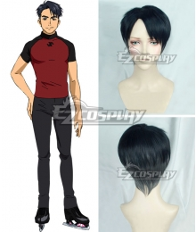 Yuri on Ice YURI!!!on ICE JJL Chara Jean Jacques Leroy Black Blue Grey Cosplay Wig