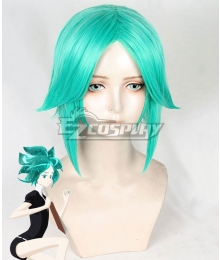 Land of the Lustrous Houseki no Kuni Phosphophyllite Blue Green Cosplay Wig