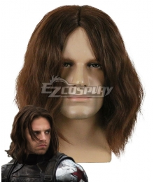 Marvel Captain America Winter Soldier James Buchanan Barnes Bucky Barnes Brown Cosplay Wig