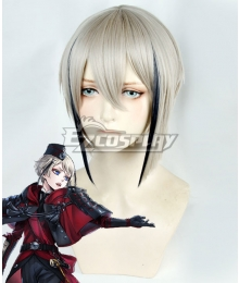 Touken Ranbu Hyuuga Masamune Grey Black Cosplay Wig