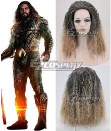 DC Justice League Movie Aquaman Arthur Curry Golden Grown Cosplay Wig