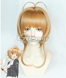 Cardcaptor Sakura: Clear Card Sakura Kinomoto Golden Orange Cosplay Wig