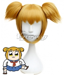 Pop Team Epic Poputepipikku Popuko Orange Yellow Cosplay Wig