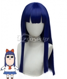 Pop Team Epic Poputepipikku Pipimi Blue Cosplay Wig