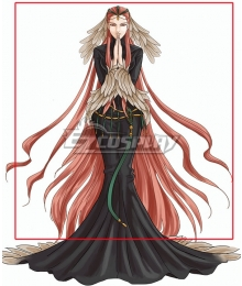 Fire Emblem Radiant Dawn Ashera Red Cosplay Wig