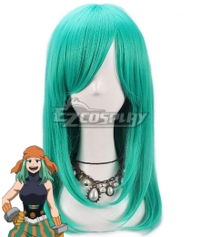 My Hero Academia Boku No Hero Academia Emi Fukukado Smile Hero Ms. Joke Green Cosplay Wig