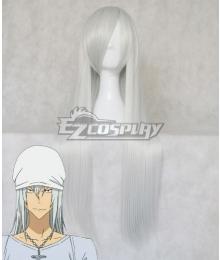Bakuman Shinta Fukuda Silver White Cosplay Wig