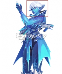 Overwatch Sombra Rime Render White Cosplay Wig