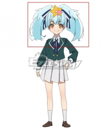 Zombieland Saga Hoshikawa Lily Blue Cosplay Wig