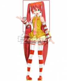 Vocaloid Miku McDonald's Red Cosplay Wig