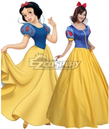 Grimms' Fairy Tales Disney Snow White Schneewittchen Snow White Yellow Dress Cosplay Costume - A Edition