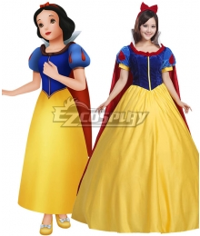 Grimms' Fairy Tales Disney Snow White Schneewittchen Snow White Yellow Dress Cosplay Costume - B Edition