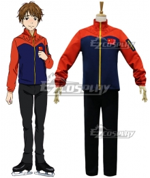 Yuri on Ice YURI!!!on ICE Ji Guanghong Sportswear Suit Outfit Cosplay Costume - B Edition