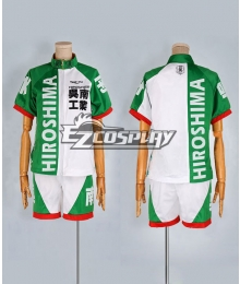 Yowamushi Pedal Green and White Sportwear Cosplay Costume