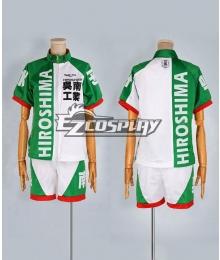 Yowamushi Pedal Green and White Sportwear Cosplay Costume