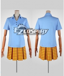 Yowamushi Pedal Girl Summer Blue Uniform Cosplay Costume