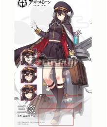 Azur Lane Mikasa New Skin Red Black Cosplay Shoes