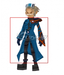 Pokemon Colosseum Trainer Wes Cosplay Costume Only Coat Pauldrons