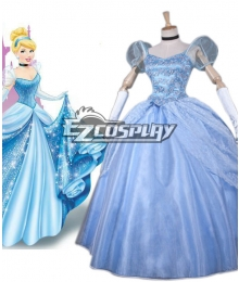 Disney Ainimation Cartoon Cinderella Princess Cinderella Cosplay Costume
