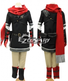 The Legend of Zelda Hyrule Warriors Link Cosplay Costume With Scarf Black Version