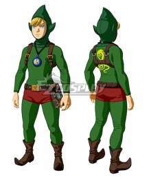 The Legend of  Zelda: Breath Of The Wild DLC Link Tingle's Outfit Cosplay Costume