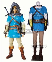 The Legend of Zelda: Breath of the Wild Link Cosplay Costume - New Edition