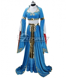 The Legend of Zelda: Breath of the Wild Princess Zelda Botw Cosplay Costume