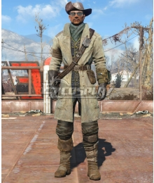 Fallout 4 Preston Garvy Cosplay Costume - Including Boots