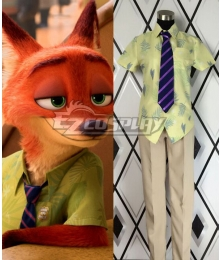 Disney Zootopia Nicholas P. Wilde Fox Nick Cosplay Costume
