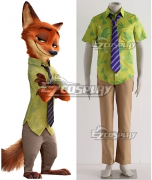Disney Zootopia Nicholas P.Wilde Fox Nick Cosplay Costume