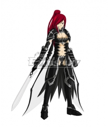 Fairy Tail Erza Scarlet Black Wing Armor Cosplay Costume
