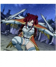 Fairy Tail Erza Scarlet Morning Star armor Cosplay Costume