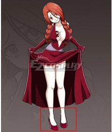 Fairy Tail Flare Corona Red Cosplay Shoes