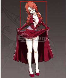 Fairy Tail Flare Corona Red Cosplay Wig