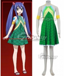Fairy Tail Tenrou Island Arc Wendy Marvell Blue Cosplay Wig